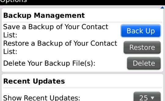 Como respaldar o recuperar tus contactos del Blackberry Messenger