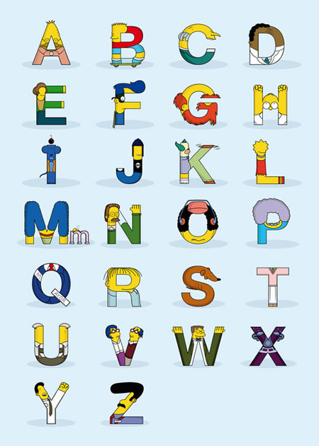 Simpsons-Alphabet